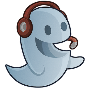 Headphone cheerful ghost