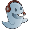 Cheerful ghost icon100x100